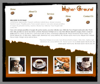 Webphotographix Homepage Design Layout - Higher Ground Coffee