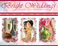 Webphotographix Homepage Design Layout - Brignt Weddings