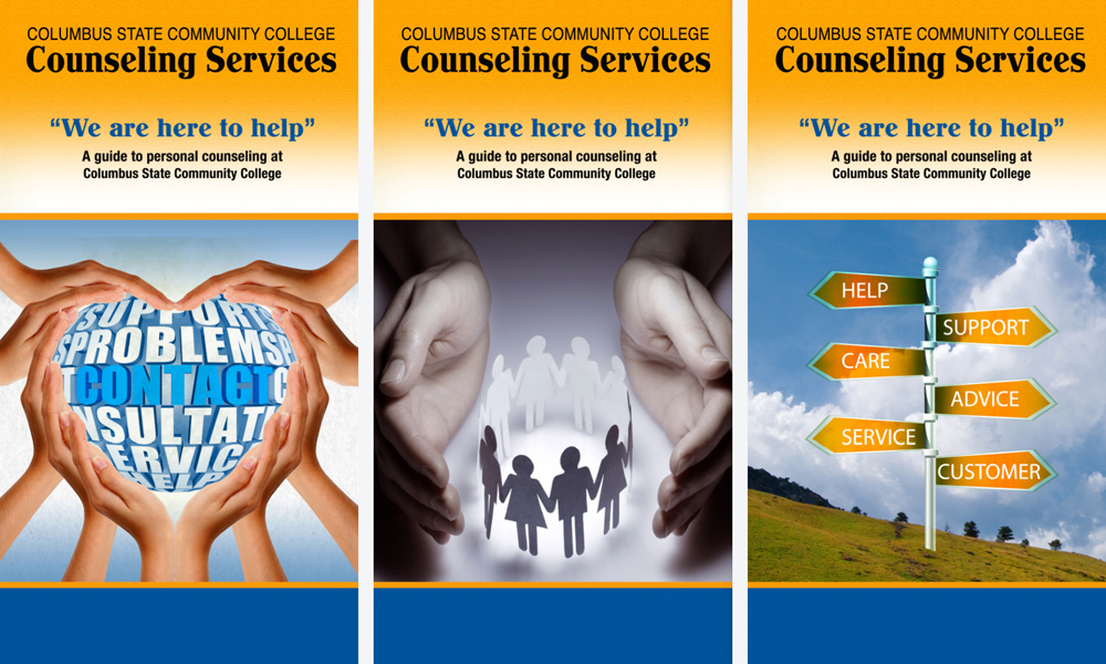Columbus state counseling services trifold brochure inside