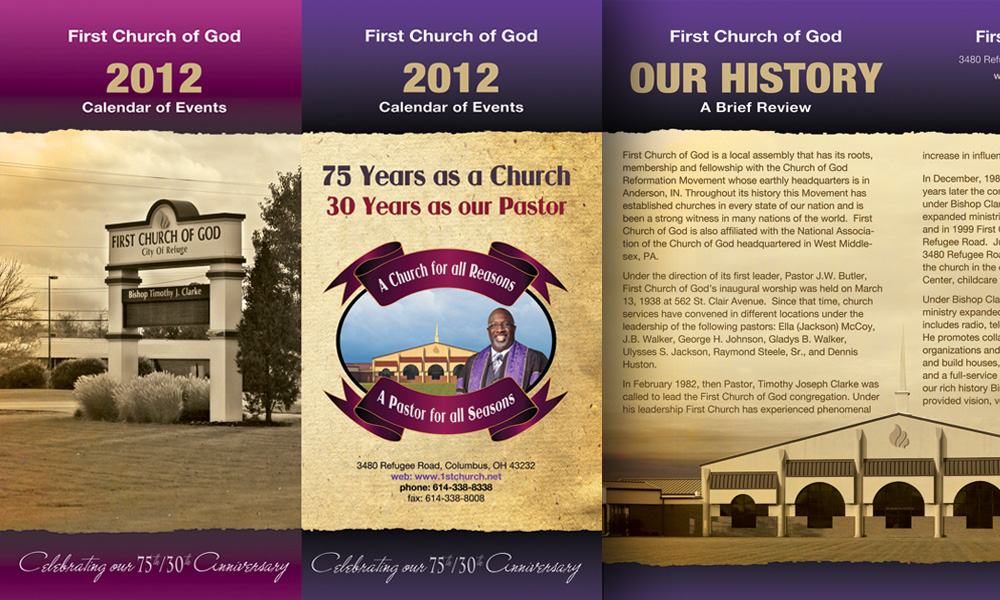 Church Calendar Design.Webphotographix Brochure Catalog Booklet And Program Design