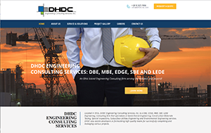 Webphotographix Homepage Design Layout -  DHDC Engineering Consulting Services