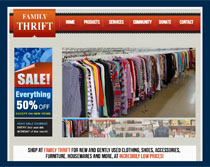 Webphotographix Design - Family Thrift Ohio Website