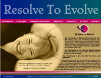 Webphotographix Design -  Resolve to Evolve Website