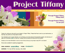 Webphotographix Design - Project Tiffany Website